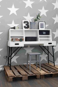Esta Home Vliestapete 'XL-Stern' grau/warmweiß - im Fantasyroom Shop online bestellen oder im Ladengeschäft in Lörrach kaufen. Besuchen Sie uns!