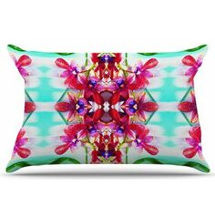East Urban Home Tropical Floral Orchids 2 by Dawid Roc Pillow Sham Size: Standard