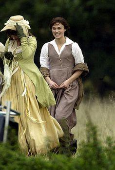 Pride and Prejudice (2005) love Elizabeth's dress.