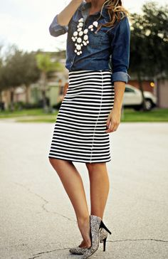 Tee Striped And When Navy Simple Really For Hot T Skirt Is Summer SBA4n0q8w