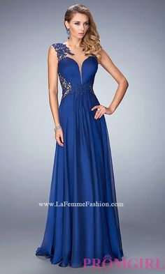La Femme Long Dress with Illusion Neckline and Embroidery $489.99 from http://www.www.petsolemn.com   #prom #promdress #embroidery #and #neckline #illusion #sexy #girl #with #la #femme #princess #long #dress