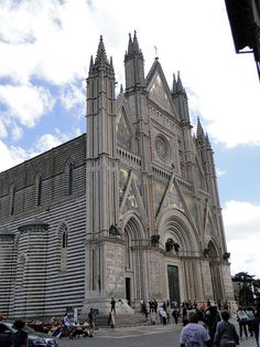 Duomo di Orvieto, Umbria, Italy. We hung out on the steps of this church (Duomo) after grabbing post-ride showers. Decided where to go eat dinner. Had to have some boar meat on pasta, it's BIG there!