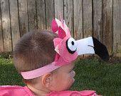 Flamingo Pink Bird casque - bandeau de couvre-chefs pour enfants