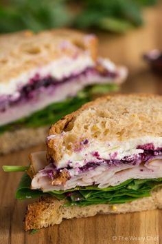 be nervous. One bite of this Turkey Sandwich with Goat Cheese and Berry Preserves and you'll be hooked! (Sponsored)Don't be nervous. One bite of this Turkey Sandwich with Goat Cheese and Berry Preserves and you'll be hooked! Goat Cheese Sandwiches, Goat Cheese Recipes, Turkey Sandwiches, Cheese Snacks, Sandwiches For Lunch, Cheese Bites, Salads With Goat Cheese, Cheese Burger, Healthy Sandwiches