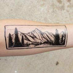 Rectangle mountain temporary tattoo available at www.naturetats.com #Regram via @naturetats
