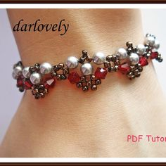 Silver Pearl Red Bronze Bracelet | JewelryLessons.com