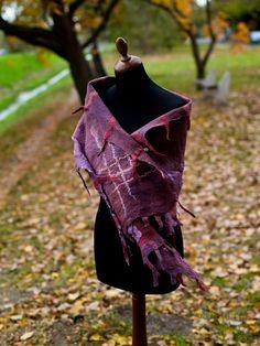 nuno felted wrap by Vaszilka