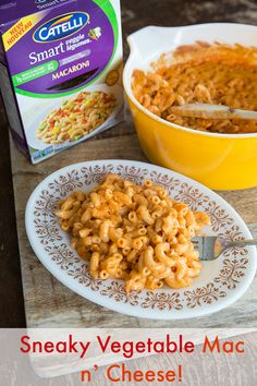Healthy Sneaky Hidden Vegetable Mac n' Cheese recipe for dinner! No one will ever know there's more than a serving of veggies per serving in it!