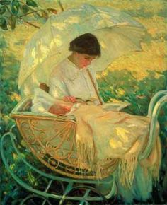 Helen McNicoll - Girl With Parasol, 1913