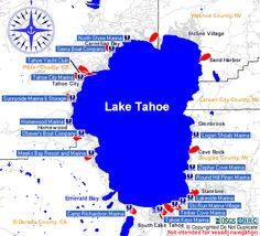 Lake Tahoe Marinas and Boat Ramps