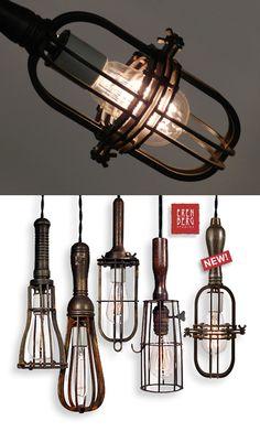 Eren Berg Studios Cage Light Design Love the one that looks like a whisk
