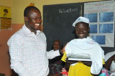 Batia Public Elementary School, Benin - Some pretty happy children seeing what prizes they are receiving.