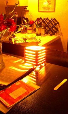 DIY: Popsicle Stick Shutter Lamp