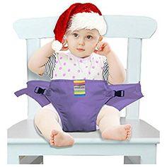 Der waschbare tragbare Reise Hochstuhl Booster Babysitz mit Riemen Kleinkind -Sicherheitsgurt Schätzchenspeicherung den Gurt (6 Farben) (lila): Amazon.de: Baby