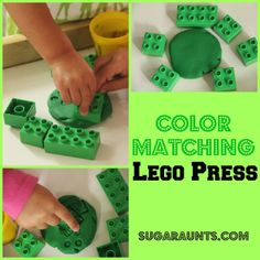 Toddler/preschool color matching activity for our colour themed weeks