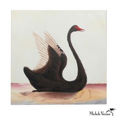Michele Varian - Black Swan Oil Painting