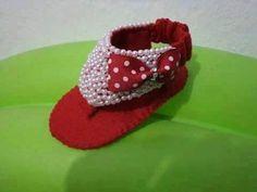 chinelo em feltro,feltro, coisas de meninas, artesanato em feltro, @temarteemtudo