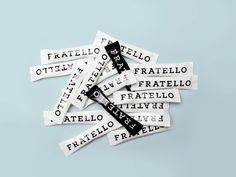 Brand identity & creative direction for coffee house and café Fratello in Helsinki Identity, Branding, Symbols, Letters, Graphic Design, Creative, Brand Management, Letter, Lettering