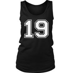Women's Vintage Sports Jersey Number 19 Tank Top for Fan or Player #19