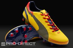 Puma Football Boots - Puma evoSPEED 1 Graphic FG - Firm Ground - Soccer Cleats - Blazing Yellow-Medieval Blue-Flame Scarlet