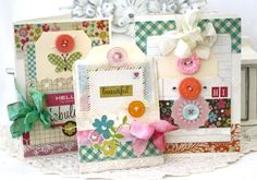 """Cards from Simple Stories """"Fabulous"""" paper line + Memorabilia Pockets"""