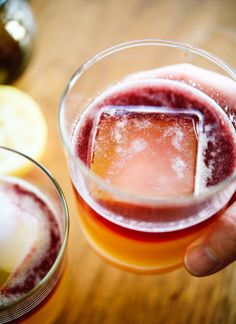 Amazing maple-sweetened New York sour cocktails - cookieandkate.com