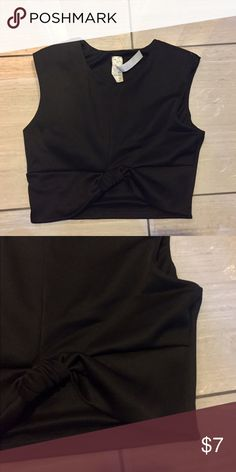 Black tie knot crop top Black tie knot crop top. Sleeveless. Size small Tops Crop Tops