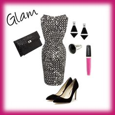 #Glam #style, created by kali-17 on #Polyvore