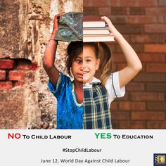 World day against child labour Child Labour Quotes, Nursing In Canada, Global Awareness, Poster Drawing, Self Portrait Photography, Labour Day, World Days, India People, Nursing Programs