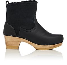 NO. 6 Shearling & Leather Clog Boots    - Boots - 504615341