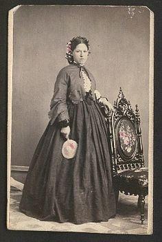 Old CDV Photo Pretty Lady Braids Flowers Tinted Urbana Ohio Civil War Tax Stamp | eBay