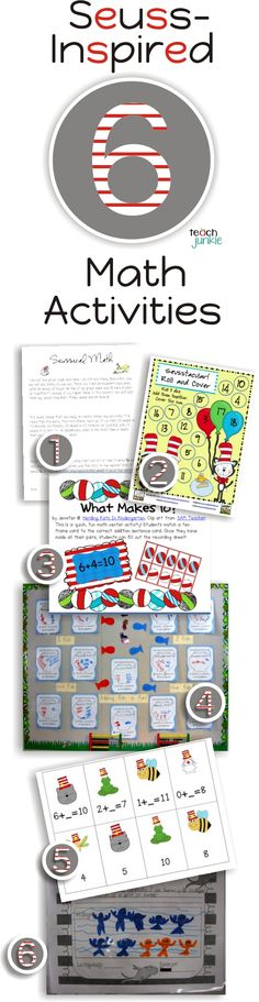 6 Dr. Seuss Inspired Math Activities {Free Download}