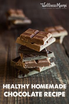This healthy homemade chocolate recipe is easy to make and dairy free. It uses honey instead of sugar with cocoa butter and is GAPS, paleo, and primal approved! Homemade Milk Chocolate, Honey Chocolate, Healthy Chocolate, How To Make Chocolate, Chocolate Desserts, Vegan Milk Chocolate Recipe, Homemade Chocolates, Making Chocolate, Chocolate Shop