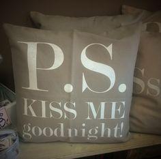 P.S. Kiss me goodnight! Pillow Talk :*