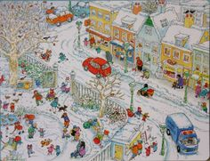 TOUCH this image: Winter groep 1 by Mirjm Schottert Writing Pictures, Picture Writing Prompts, Picture Comprehension, Winter Words, Stem Science, How To Speak French, Christmas Illustration, Cartoon Pics, Winter Theme