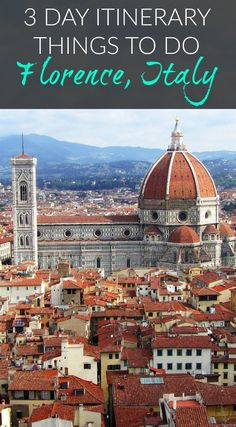 3 Days in Florence – What to do in Florence, Italy. It's no wonder Florence is rated the best city in Europe every year. It's as rich in history as it is in culture—and if time is short, these experiences will deliver a primer on this beautiful city. Click to read more. #Italy #Florence #Travel #Guide