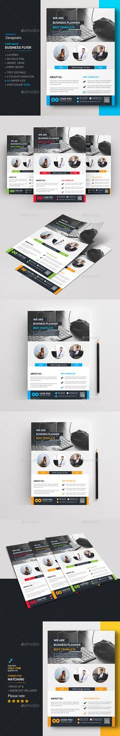 Modern App Flyers Flat style, Mobile applications and Flyer template - computer repair flyer template