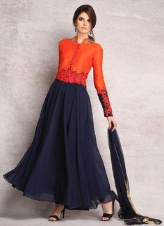 LS-1414 - Blue - Suits - Ladies Wear - Diya Online
