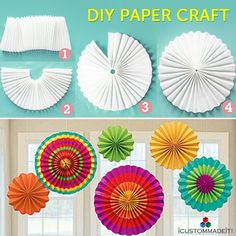 DIY Paper Craft! Decorate your house with these paper crafts! #DIY #PaperCraft #DoItYouself #iCMi #iCustomMadeit