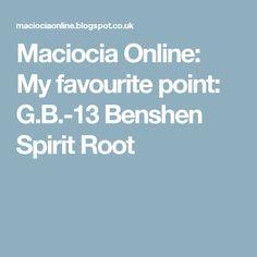 Maciocia Online: My favourite point: G.B.-13 Benshen Spirit Root