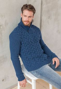 Exclusive alpaca classic in chain structure Sweater Scarf, Men Sweater, Alta Moda Alpaca, Animal Print Jumpers, Knit Shrug, Knitting Designs, Knitting Projects, Casual Looks, Turtle Neck