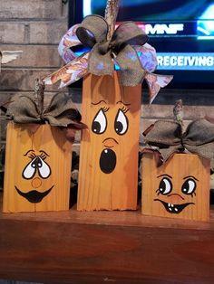 50 Best Inspiring Fall DIY Decoration Ideas - My most creative diy and craft list Fall Wood Crafts, Halloween Wood Crafts, Wooden Crafts, Holiday Crafts, Diy And Crafts, Crafts Cheap, Wooden Pumpkin Crafts, Decoration Haloween, Adornos Halloween