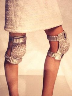 Chanel glitter knee pads!