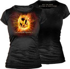 The Hunger Games Mockingjay on Fire Juniors T-Shirt