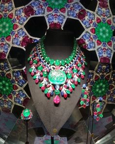 "The Cartier ""Rajasthan"" Necklace includes a 136.97 carat Colombian Emerald"
