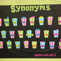 "An interactive bulletin board with synonyms for ""overused words."" {Apples and ABC's: A Pocket Full of Synonyms} 4th Grade Classroom, Classroom Design, Classroom Decor, Chevron Classroom, Interactive Bulletin Boards, Classroom Bulletin Boards, Teaching Reading, Teaching Tools, Teaching Ideas"