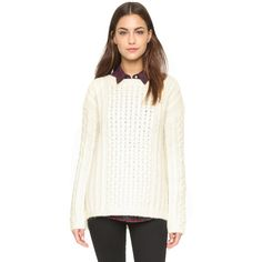 Nili Lotan Kissing Cable Sweater ($505) ❤ liked on Polyvore