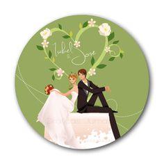 ♥ Noly Gil: ♥ Posavasos para bodas