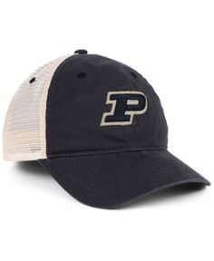 Zephyr Purdue Boilermakers University Mesh Cap - Black Stone Adjustable 87f4cee9a696