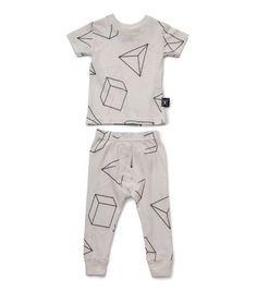 43e44f4a09f white geometric loungewear for kids - NUNUNU WORLD